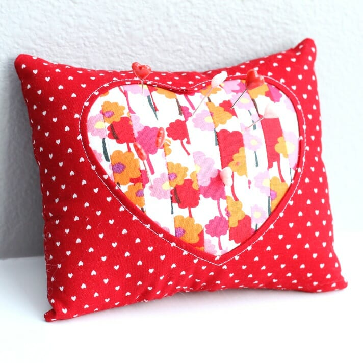 Scrappy Heart Pincushion 2