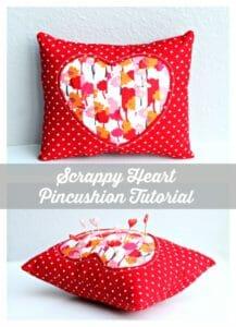 Heart pincushion. I like that its a larger size.