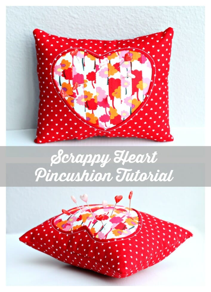 Heart pincushion. I like that its a larger size.