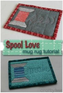 OOh, so cute. Need this sewing mug rug next to my machine for my coffee.