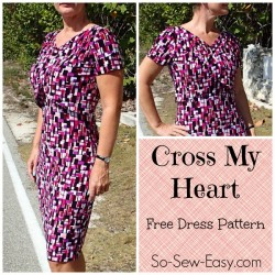 This dress is so elegant. I love how easy it is to sew too. h and it's a free pattern!