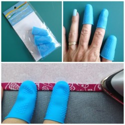 Sewing tool tips. These thermal thimbles are just what I've been looking for to stop my fingers getting burned from the steam iron.