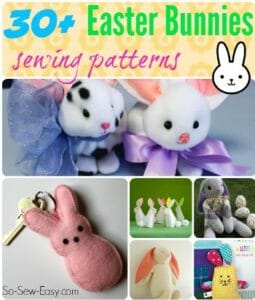 More than 30 sewing patterns, tutorials and inspiration for Easter Bunnies to sew.