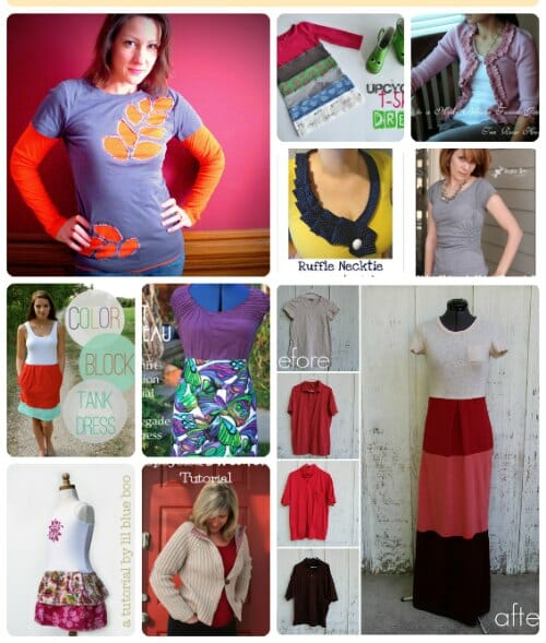 25 of the best and most ingenious clothing refashion ideas - for Clean out your Closet Week. I'm inspired!
