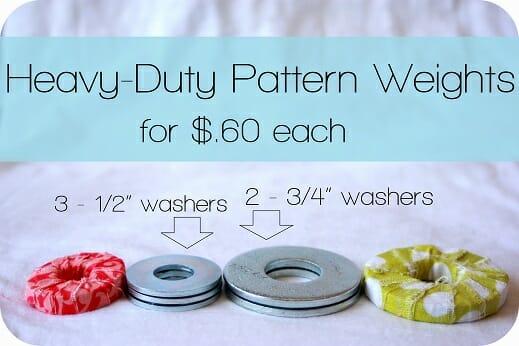 Heavy-duty inexpensive patternweights -Vanilla Joy