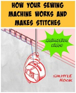 Video animation of how a sewing machine works and how the stitches are formed. Shows why 'timing' is so important.