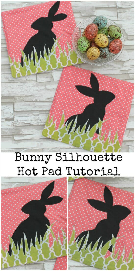 Bunny Silhouette Hot Pad Tutorial {{Friends Stitched Together for So Sew Easy}}