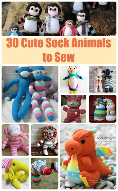 Fun sock animal sewing patterns - So Sew Easy