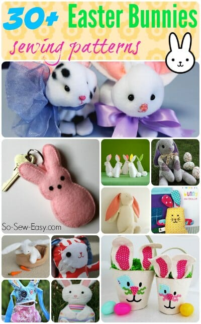 Easter bunnies to sew - So Sew Easy