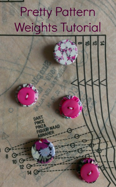 Sew Sensational - Pattern weights from washers and buttons