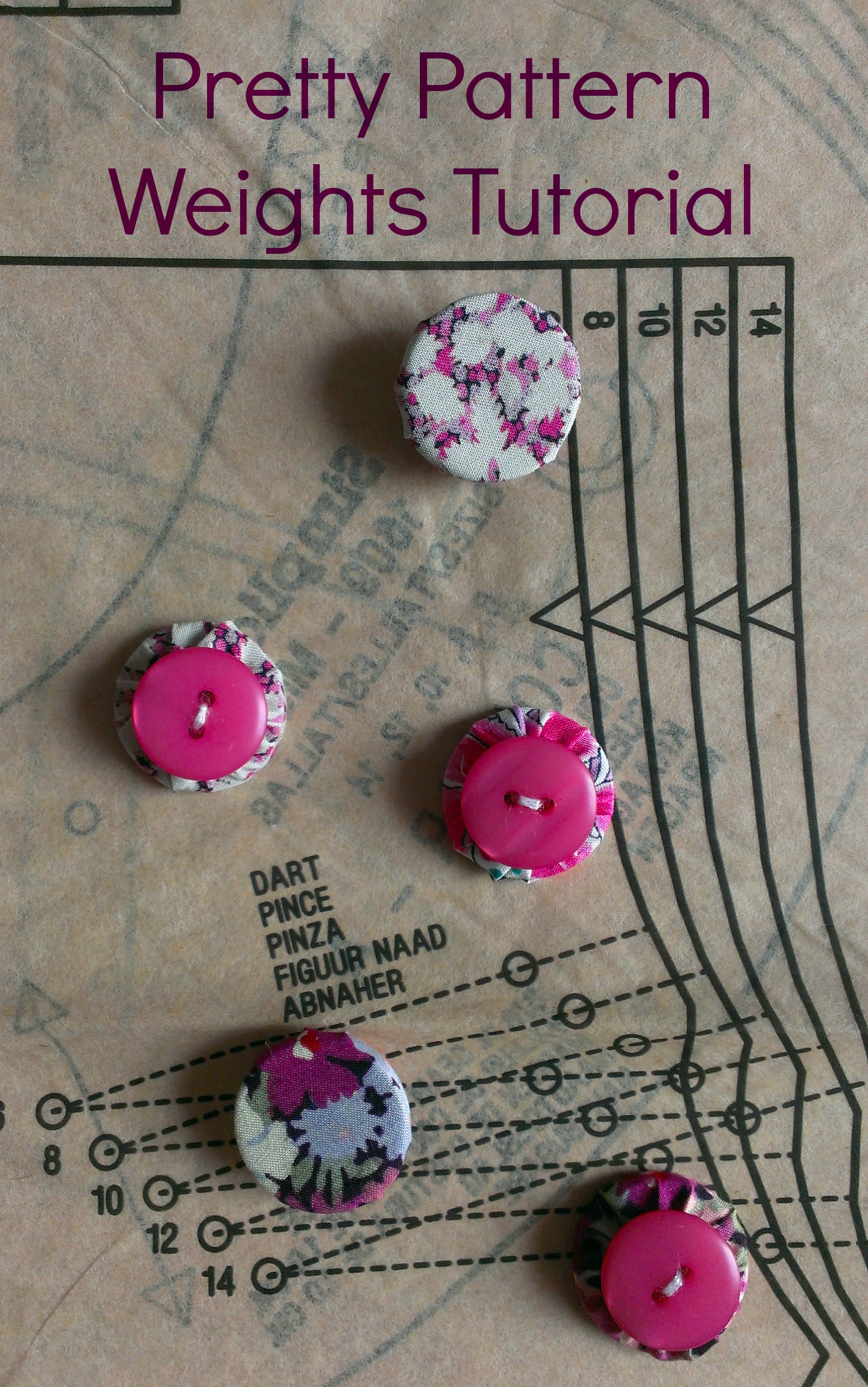 ew Sensational - Pattern weights from washers and buttons