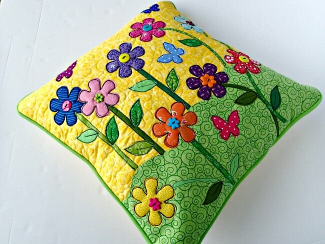 Spring applique pillow cover so sew easy