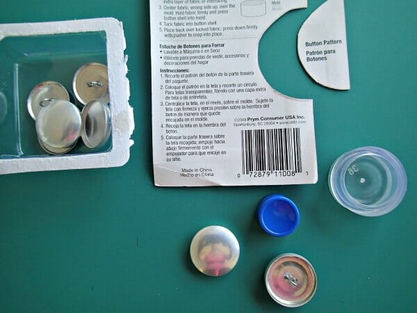 How to make fabric covered buttons.
