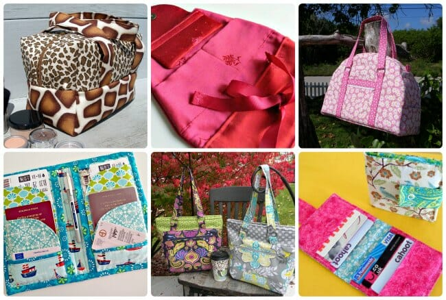6 awesome bag and wallet sewing patterns all in one bundle.