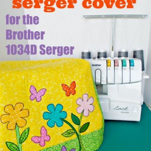 Pattern and instructions on how to sew your own serger cover for the popular Brother 1034d serger