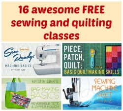 Links to all the free sewing and quilting classes on Craftsy and a summary of each, all in one place.