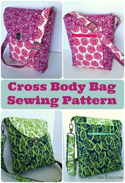 Free Crochet Pattern For Cross Body Bag : Cross Body Bag pattern - POTM - So Sew Easy