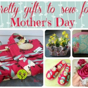 Some really nice ideas for gifts to sew for Mother's Day. My mom would love any number of these.