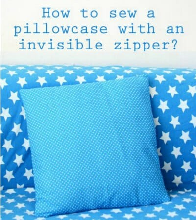 How to sew an invisible zipper into the side seam of a pillow cover. I love this look!