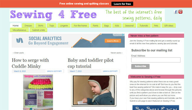 Sewing 4 Free - my other site - So Sew Easy