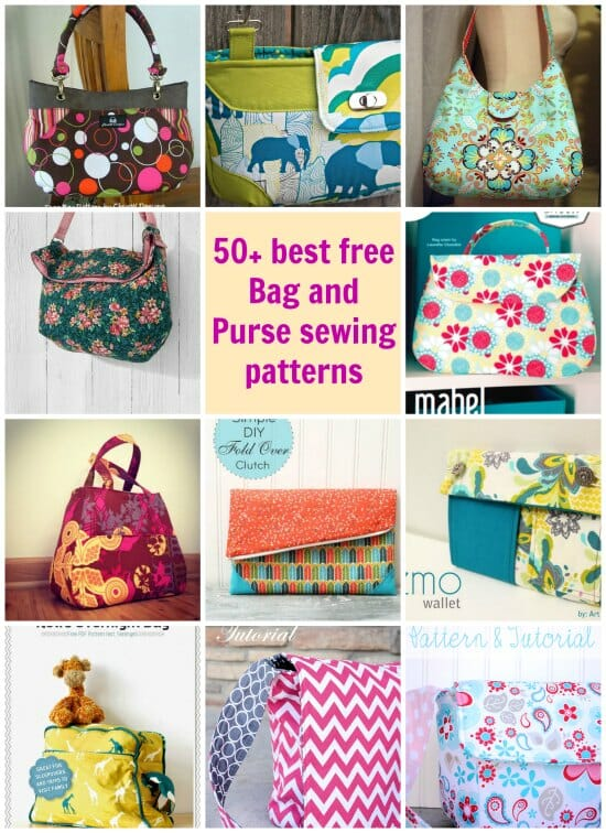 photo regarding Handbag Patterns Free Printable named 50 Most loved Least complicated Absolutely free Purse Designs - Consequently Sew Very simple