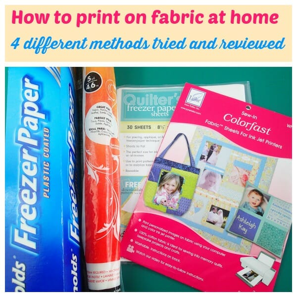How to print on fabric at home. 4 different methods and products tested and reviewed.