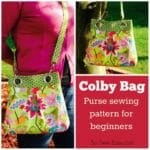 Great bag for beginners. THe hardware makes it look smart and trendy but it's still an easy to sew purse