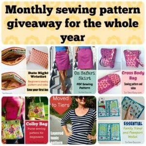 Running all of 2015, win the sewing pattern of the month every month. All entries carried forward all year!