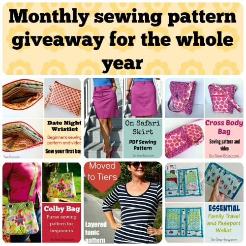 Running all of 2016, win the sewing pattern of the month every month. All entries carried forward all year!
