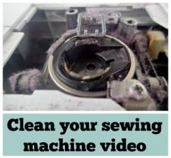How to clean a sewing machine video
