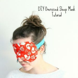 This larger sized sleep mask pattern really makes sure no light gets in and is perfect for travel or daytime naps. It's lined with satin for a luxury feel.