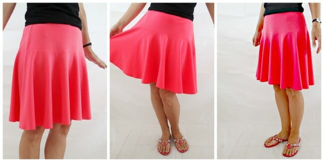 Flouncy bouncy skirt collage - pink