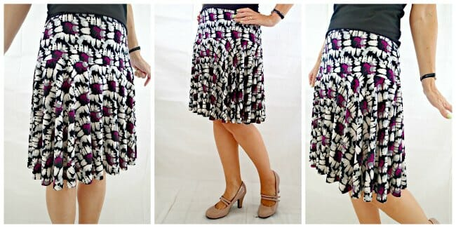 This skirt goes straight to the top of my summer sewing list! The cotton jersay is great, but I LOVE the drape in the ITY knit version.