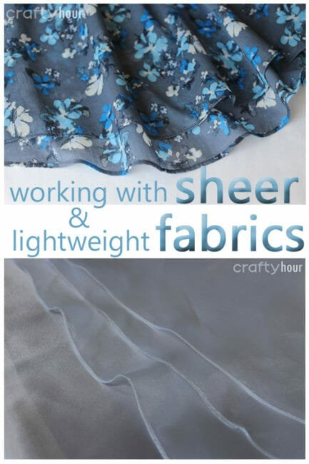 How to Hem Sheer or Lightweight Fabrics