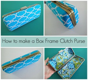 How to make this box frame clutch purse. I didn't know it was so easy! Looks very professional, even I can do this. No sewing involved.