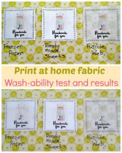 Printing on fabric at home. How washable is it? How to make the ink stick so you can wash your print at home fabric.