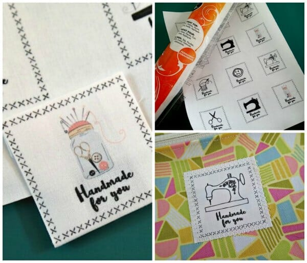 Printable sheet of 'handmade' labels.  Print on fabric at home to create your own designer sewing labels.