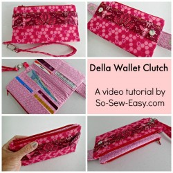 Full step by step video tutorial on how to make the Della Wallet from Swoon Patterns.