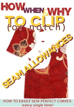 Serger Pepper - Clip and notch seam allowances - how to easily sew perfect curves
