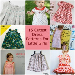 15 Cutest Free Girls Dress Patterns