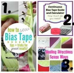 Pick of the best pins for bias, piping and binding tutorials
