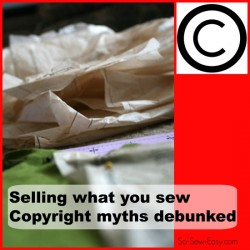 sewing pattern copyright law