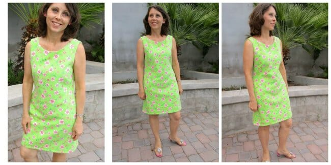 Easy shift dress to sew women's style.
