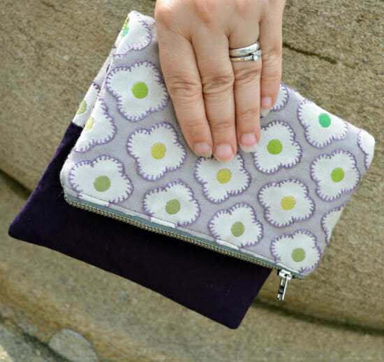 Evening Fold Over Clutch bag pattern - hand embroidered curtain fabric