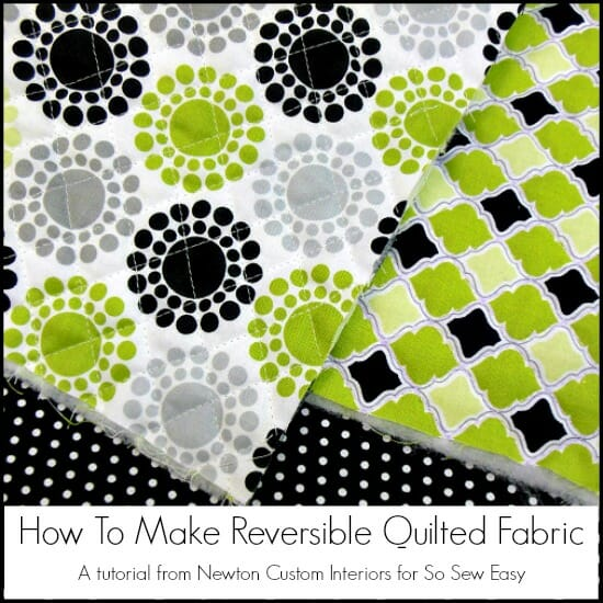 How to make your own reversible quilted fabric for use in bags and home decor. Love that I can have two different fabrics front and back with this.
