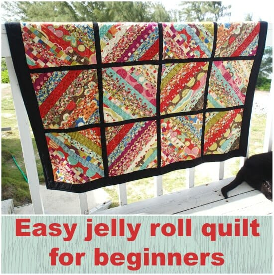 My serger jelly roll quilt is finished - So Sew Easy