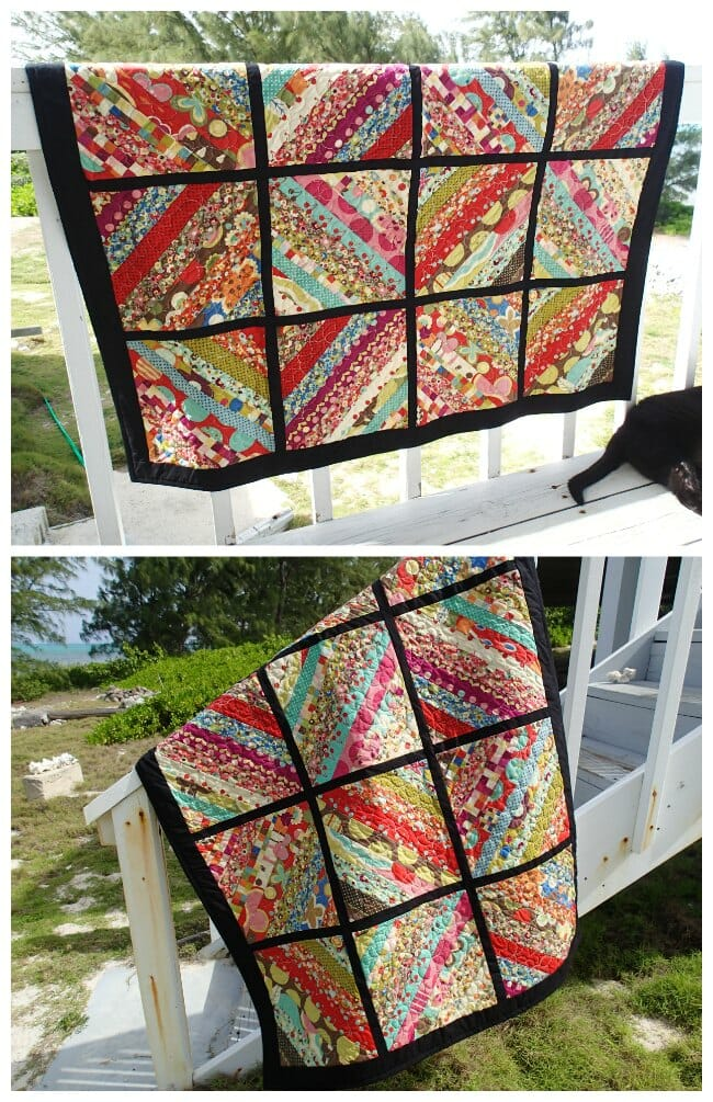 My Serger Jelly Roll Quilt Is Finished So Sew Easy