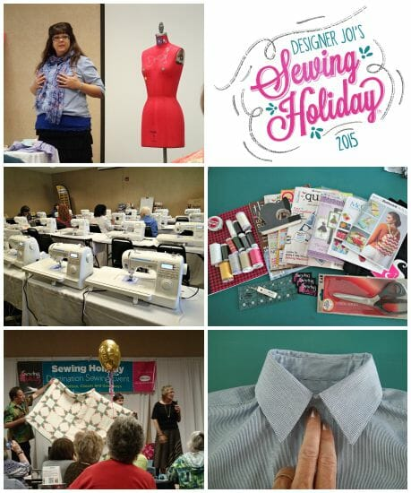 Designer Joi's sewing holiday 2015.