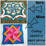Getting started in paper piecing. A look at beginner level to expert level paper piecing, links to free patterns.