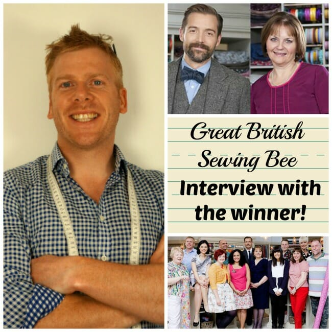 Interview with Matt, the winner of the Great British Sewing Bee.  The So Sew Easy readers get their questions answered.